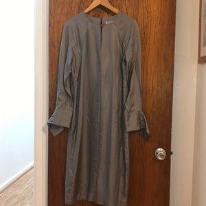 BananaRepublic silk maxi dress long sleeve/details